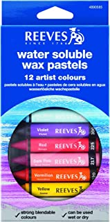 Reeves WIN4890585 Water Soluble Wax Pastels, Multicolor