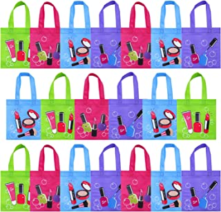 Elcoho 20 Pieces Party Non-Woven Bags Tote Gift Bags Party Treat Bag with Handles for Party Favors, 8 by 8 Inches, 4 Colors