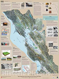 Historic Pictoric Map : Map of Quaternary-Active Faults in The San Francisco Bay Region, 2006 Cartography Wall Art : 24in x 30in