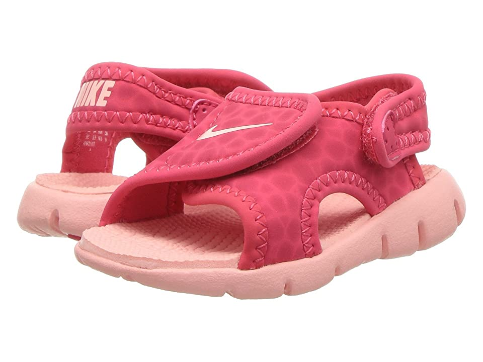 Nike Kids Sunray Adjust 4 (Infant/Toddler) (Tropical Pink/Bleached Coral) Girls Shoes
