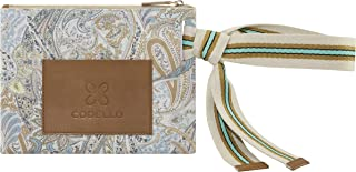 CODELLO Damen Clutch, Beauty Bag | Paisley | 100% Baumwolle Canvas | 28,5 x 21,5 cm