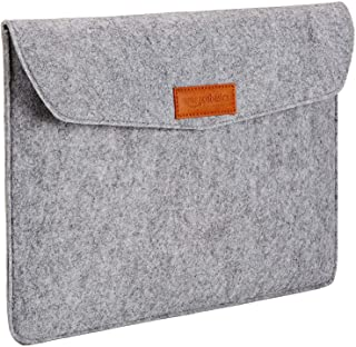 "AmazonBasics 13"" Felt Laptop Sleeve, Light Grey"