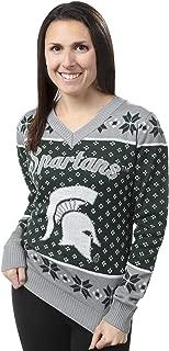 NCAA Women's Big Logo V-Neck Sweater, Pick A Team