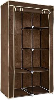 Navaris Armoire de Rangement - Dressing penderie Tissu - Garderobe Pliante XL avec 6 Cases - Vêtements Chambre Adulte Enfa...