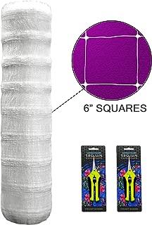 Commercial Grade Trellis Netting for Garden Plants- Premium Heavy Duty Scrog Net Bulk Roll | (4' or 48