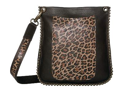 Leatherock Agnes Crossbody (Chocolate/Jaguar Camel) Cross Body Handbags