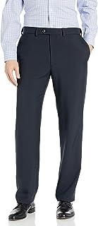 Haggar Men's Eclo Stria Expandable-Waist Flat Front Dress Pant