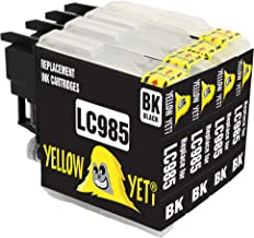 Yellow Yeti Reemplazo para Brother LC985 LC985BK Cartuchos de Tinta Negro compatibles con Brother DCP-J315W DCP-J125 DCP-J140W DCP-J515W MFC-J415W MFC-J220 MFC-J265W MFC-J410