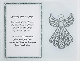 Memory Photo Frame - Unique Sympathy Gift Idea - Send to a Funeral or Residence of The Grieving Sending You an Angel Memorial Poem