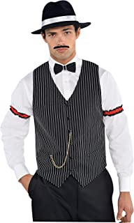 AMSCAN Roaring 20s Gangster Vest Halloween Costume Accessories, One Size