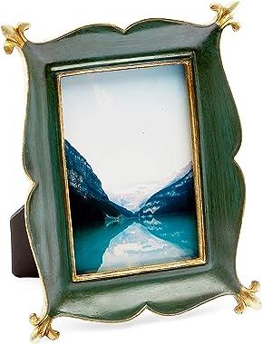 Okuna Outpost Marcos de fotos vintage para fotos de 10,6 x 15,2 cm, color verde rústico, dorado (15,2 x 20,3 cm)