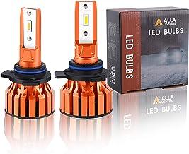 Alla Lighting Vision X-HL Xtreme Super Bright 10000 Lumens HIR2 9012 LED Bulbs, Dual High/Low Beam Headlights(off-road use...