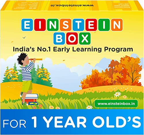 Einstein Box for Kids 1 Year Old Baby/ Toddler Toys & Board Books for Boys & Girls | Pretend Play Gift Pack of Learni...