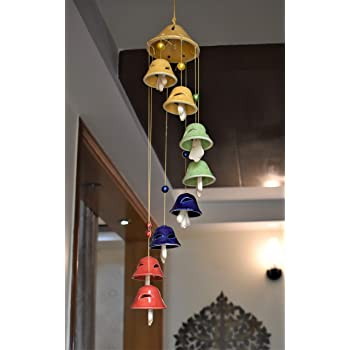 Tomar Trading Handcrafted 08 Bell Ceramic Wind Chime