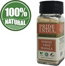 Pride of India - Indian Chat Masala Sesaoning Spice - 2.7 oz (77 gm) Small Dual Sifter Jar - BUY 1 GET 1 FREE (MIX AND MATCH - PROMO APPLIES AT CHECKOUT)