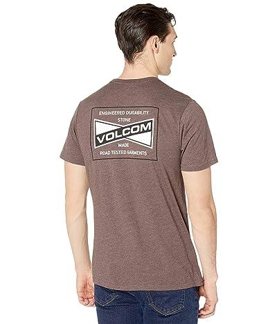 Volcom Vee-Bow Short Sleeve Tee (Mahogany) Men