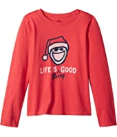 Life is Merry Good Crusher T-Shirt Long Sleeve (Little Kids/Big Kids)