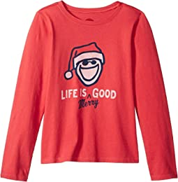 Life is Merry Good Crusher T-Shirt Long Sleeve (Little Kids/Big Kids)