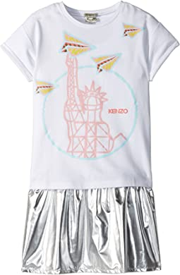 Kenzo Kids Statue of Liberty Drop Waist Dress Set (Big Kids)