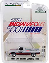 1981 GMC Sierra Classic 1500 Pickup Truck 65th Annual Indianapolis 500 Mile Race Official Truck (May 24, 1981) 1/64 Diecast Car by Greenlight 30027