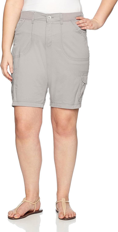 LEE Women's PlusSize Relaxed Fit Diani Knit Waist Bermuda Short