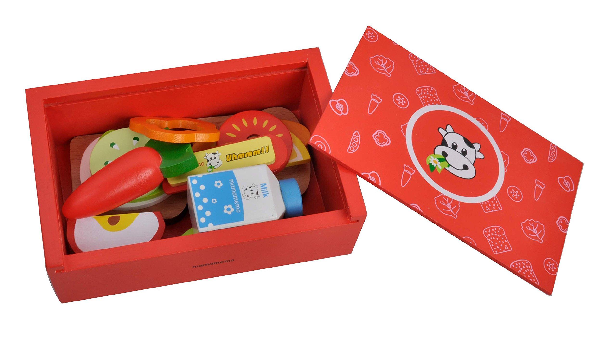 Lunch box - Caja de desayuno - merienda - Juguete en madera - Incluye 15 piezas: Amazon.es: Juguetes y juegos