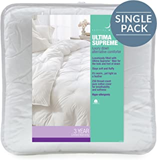 GoLinens Restful Nights Ultima Supreme Comforter Pure Cotton by Pacific Coast Feather Full/Queen, White