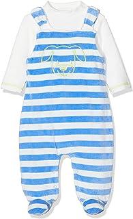 Schnizler Unisex Baby 2 tlg. Strampler-Set Hündchen geringelt aus Nicki mit Langarmshirt