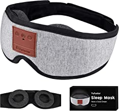Sleep Headphones, Tufusiur 3D Sleep Mask Bluetooth 5.0 Wireless Music Adjustable Eye Mask for Sleeping Headphones, Zero Ey...