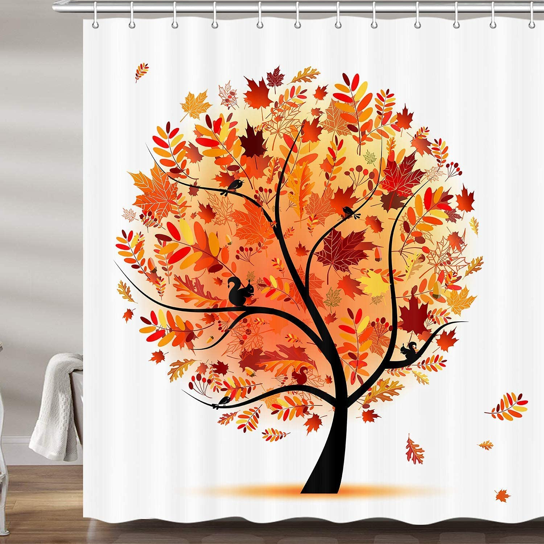Fall Decor Shower Curtains for Bathroom Lea Autumn Colorado Springs Mall San Diego Mall Orange Maple