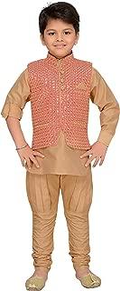 Kids Indian Wear Bollywood Style Kurta Pyjama Waistcoat for Boys