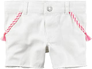 Carters Baby Girls Twill Roll-Cuff Shorts Olive