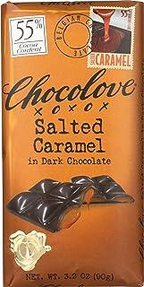 Chocolove, Chocolate Bar Dark Caramel, 3.2 oz