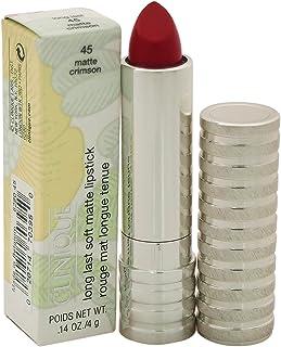 Clinique Long Last Soft Matte Lipstick - # 45 Matte Crimson for Women - 0.14 oz, 4.2 milliliters