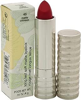 Clinique Women's Long Last Soft Matte Lipstick, 45 Crimson, 0.14 Ounce