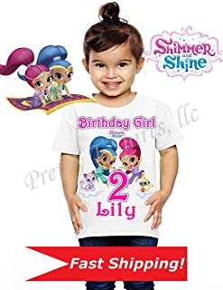 shimmer and shine birthday shirt