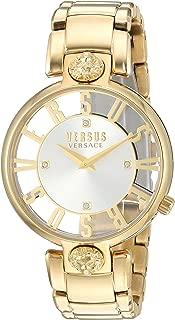 Versus by Versace Women's KRISTENHOF Quartz Watch with Gold-Plated-Stainless-Steel Strap, 106 (Model: VSP490618)