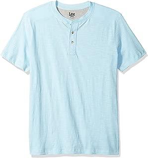 Mens Short Sleeve Henley Tee Shirt