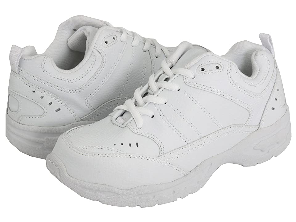School Issue Athletic (Toddler/Little Kid/Big Kid) (White Leather) Boy