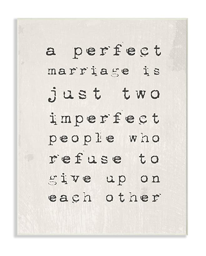 The Stupell Home Decor Collection A A Perfect Marriage Wall Plaque Art, 10 x 15,