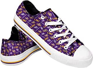 NCAA Womens Low Top Repeat Print Canvas Shoes