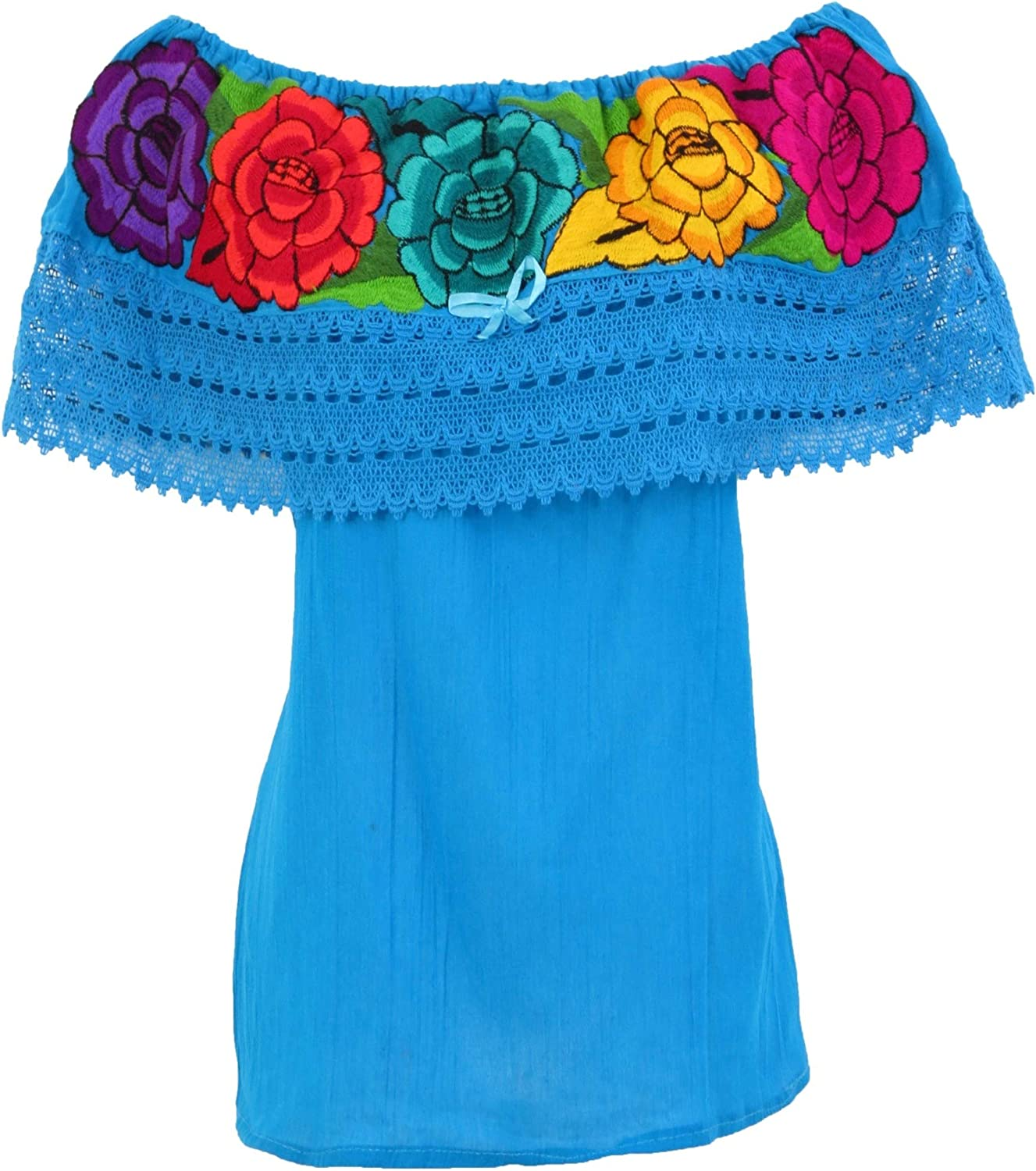 Embroidered Mexican Blouse Floral Embroidered Blouse
