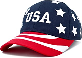 DALIX USA Baseball Cap Flag Hat Team USA Navy Snapback America Stars and Stripes