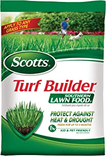 Scotts Turf Builder Southern Lawn Food F, 14.06 lb. - Florida Lawn Fertilizer - Protect Against Heat and Drought, Feeds for Up to 3 Months, Apply to Any Grass Type - Covers 5,000 sq. ft.