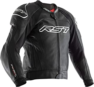 RST 2051 Tractech Evo III Mens CE Sports Leather Motorcycle Jacket - Black 42
