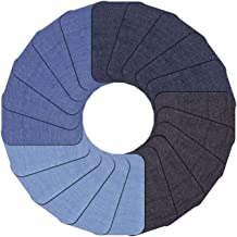 """Iron on Patches for Clothing Repair, 20 Pcs Jean Denim Patches Iron on Inside 4 Colors 3"""" by 4-1/4"""""""