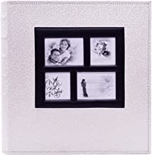KOBEST 400 Pocket Holds 4×6 Inches Family Photo Album Inspiration Postbound Albums Memory Book Leatherette Cover-4 Front Window Anniversary, Wedding, Birthday Travel Record
