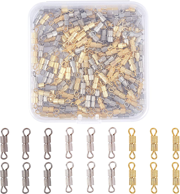 CHGCRAFT 200 Sets Iron Screw Twist Clasps unisex Platinum and 55% OFF Sc Golden
