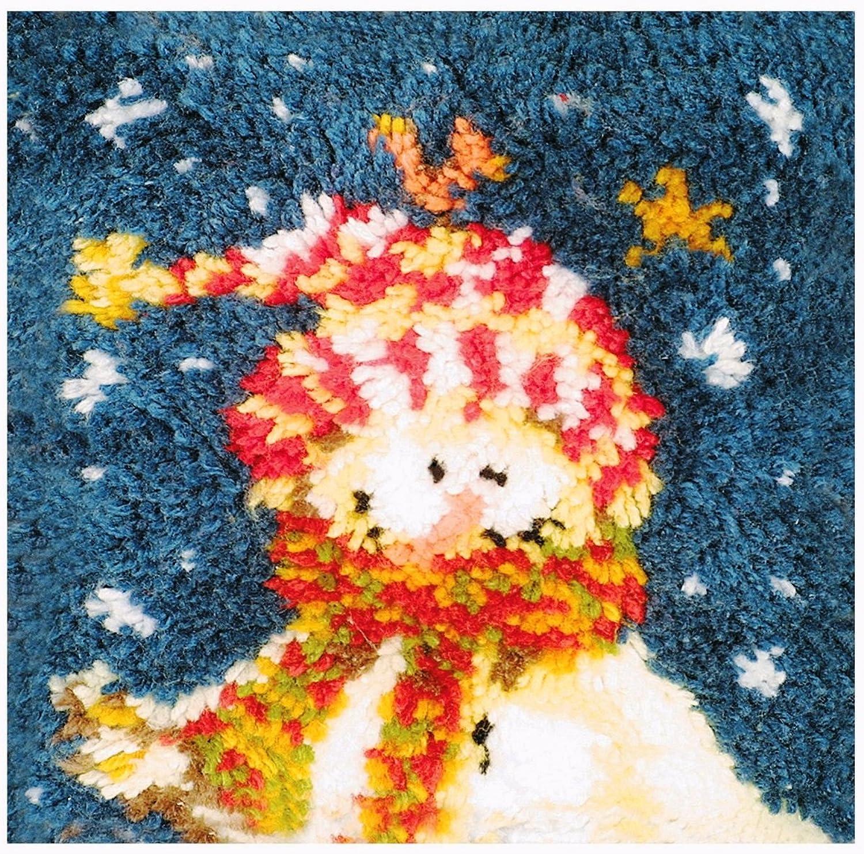 MCG Textiles American Snowman Latch Hook Pillow Kit