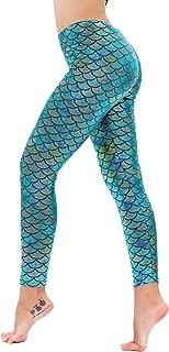 Women's Mermaid Fish Scale Printing Full Length Leggings